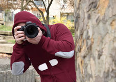 Paparazzi fotograf Zdjęcia Stock