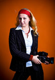 Paparazzi girl Royalty Free Stock Photography