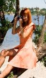 Paparazzi girl Stock Image