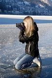 Paparazzi on ice Royalty Free Stock Photos