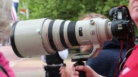 Paparazzi kamery obiektyw w akci zbiory