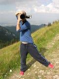 Paparazzi nell'azione fotografia stock