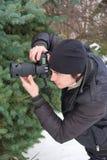 Paparazzi op het werk Royalty-vrije Stock Foto