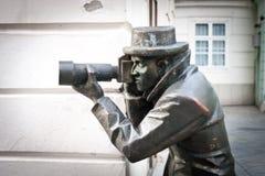 Paparazzi Statue royalty free stock photos
