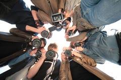 Paparazzi sur l'objet Photographie stock