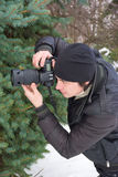 Paparazzi sur le travail photo libre de droits