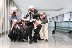 Paparazzis Stockfoto
