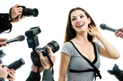 Paparazzis Stockfotos