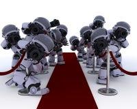 Paparazzis de la robusteza en la alfombra roja ilustración del vector