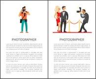 Paparazzis que toman el tiro de celebridades en la alfombra roja stock de ilustración