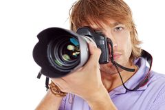 Paparazzo Royalty Free Stock Photography
