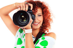 Paparazzo girl Stock Image