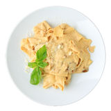 Papardelle with ceps and cream sauce Stock Image