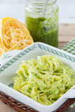 Papardelle With Pesto Stock Images