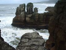 Paparoa, New Zealand. Pancake rocks, Punakaiki, West Coast, South Island, New Zealand Stock Photos