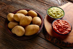 Papas al mojo Canary islands wrinkled potatoes Stock Photo