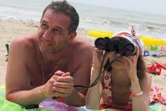Papas et filles de jour Photo libre de droits