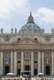 Papas John XXIII y Juan Pablo II que se canonizarán Fotografía de archivo libre de regalías