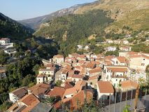 Papasidero - panorama od above Obrazy Stock