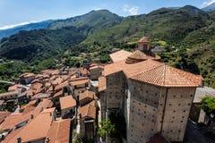 Papasidero village. View of Papasidero village, Calabria, Italy royalty free stock photography