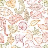 Papattern des feuilles décoratives illustration de vecteur