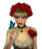 Papaveri rossi, 3d CG Fotografia Stock Libera da Diritti