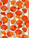 Papavers. Naadloze achtergrond. vector illustratie