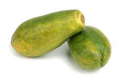 Papaya über Weiß Stockfotos