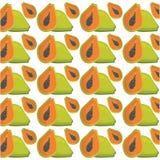 papaya άνευ ραφής σχέδιο σχεδίων Στοκ εικόνα με δικαίωμα ελεύθερης χρήσης