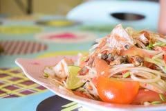 Papaya θαλασσινά σαλάτας Στοκ εικόνα με δικαίωμα ελεύθερης χρήσης