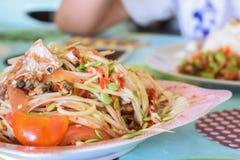 Papaya θαλασσινά σαλάτας Στοκ Φωτογραφία