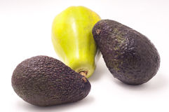 Papaya και αβοκάντο Στοκ Εικόνες