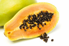 Papaya κινηματογράφηση σε πρώτο πλάνο στοκ εικόνες με δικαίωμα ελεύθερης χρήσης