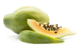 Papaya που απομονώνεται πράσινο Στοκ φωτογραφία με δικαίωμα ελεύθερης χρήσης