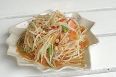Papaya σαλάτα ή SOM -SOM-tam Στοκ Εικόνες
