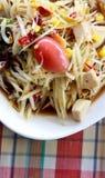 Papaya σαλάτα ή SOM -SOM-tum Στοκ Εικόνες