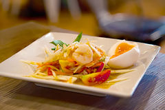 Papaya σαλάτα, διάσημα ταϊλανδικά τρόφιμα, Somtum Στοκ εικόνες με δικαίωμα ελεύθερης χρήσης