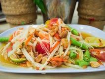 papaya σαλάτα Ταϊλανδός Στοκ Φωτογραφία