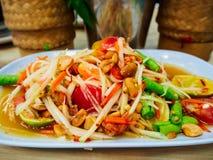 papaya σαλάτα Ταϊλανδός Στοκ Εικόνα