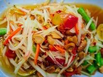papaya σαλάτα Ταϊλανδός Στοκ Εικόνες