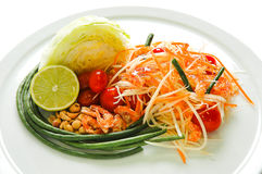 papaya σαλάτα Ταϊλανδός Στοκ φωτογραφία με δικαίωμα ελεύθερης χρήσης