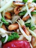 Papaya τρόφιμα σαλάτας Ταϊλανδού Στοκ Εικόνα