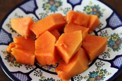 Papaya φρούτα ή bomba fruta Στοκ εικόνα με δικαίωμα ελεύθερης χρήσης