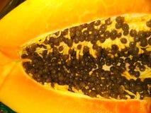 Papaya φρούτα με τους σπόρους στοκ φωτογραφίες με δικαίωμα ελεύθερης χρήσης