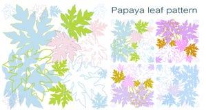papaya φύλλων πρότυπο Στοκ φωτογραφία με δικαίωμα ελεύθερης χρήσης