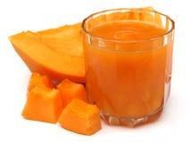 Papaya χυμός Στοκ εικόνες με δικαίωμα ελεύθερης χρήσης