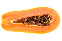 Papaya. Isolated on white background Royalty Free Stock Photos