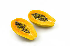 Papaya. Fresh papaya and beauty of the fruit Royalty Free Stock Image