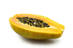 Papaya. Fresh papaya and beauty of the fruit Royalty Free Stock Photo