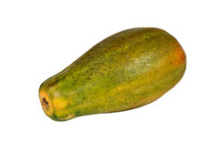 Papaya. Big papaya isolated on white background Royalty Free Stock Photos